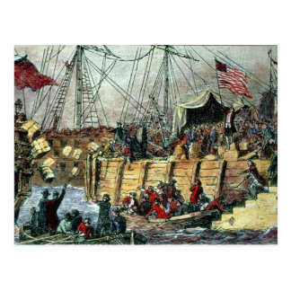 La fiesta del té de Boston, el 16 de diciembre de Postales