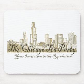 La fiesta del té de Chicago Alfombrilla De Raton