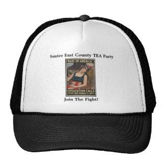 La fiesta del té del este del condado de Santee, s Gorras