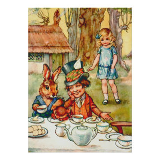 La fiesta del té del sombrerero enojado - Alicia e Posters