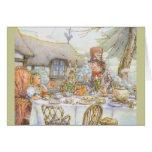La fiesta del té del sombrerero enojado colorido