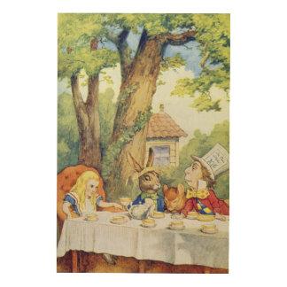 La fiesta del té del sombrerero enojado cuadros de madera