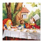 La fiesta del té del sombrerero enojado en el país impresiones en lienzo estiradas
