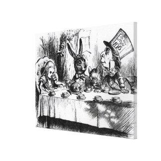 La fiesta del té del sombrerero enojado lienzo envuelto para galerias