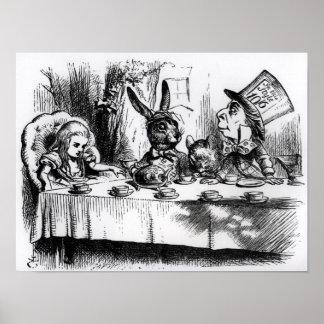 La fiesta del té del sombrerero enojado impresiones