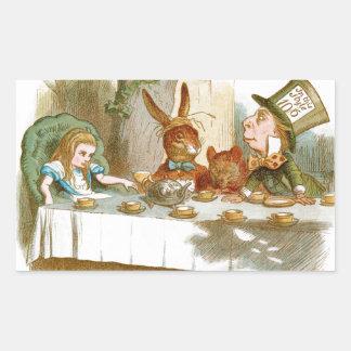 La fiesta del té del sombrerero enojado rectangular altavoces