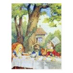 La fiesta del té del sombrerero enojado postales