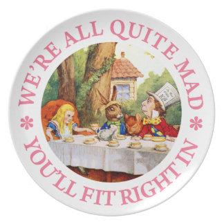 ¡La fiesta del té del sombrerero enojado - somos Plato De Cena
