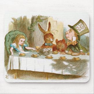 La fiesta del té del sombrerero enojado tapetes de ratones