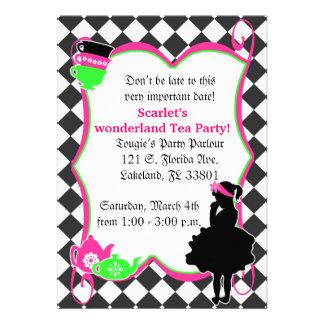 La fiesta del té enojada de Alicia invita Invitaciones Personalizada