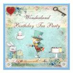 La fiesta del té enojada del cumpleaños del país d invitacion personalizada