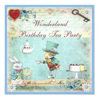 La fiesta del té enojada del cumpleaños del país invitacion personalizada