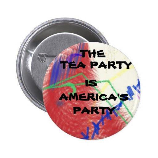 La fiesta del té es botón del fiesta de América