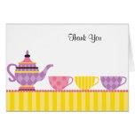 La fiesta del té le agradece las tarjetas de nota