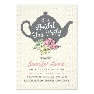 La fiesta del té nupcial invita anuncio