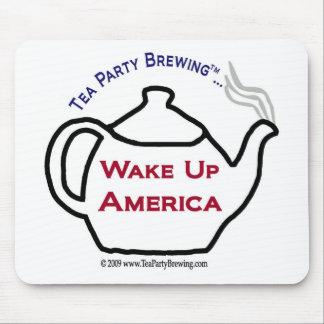 La fiesta del té TP0101 despierta América Mousepad