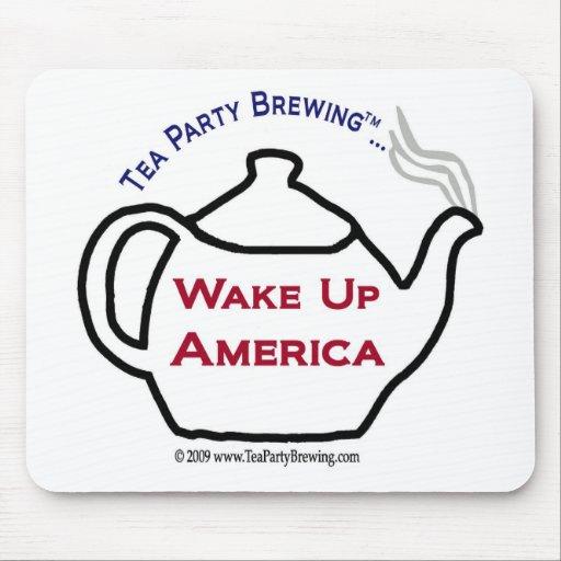 La fiesta del té TP0101 despierta América Mousepad Alfombrilla De Ratones