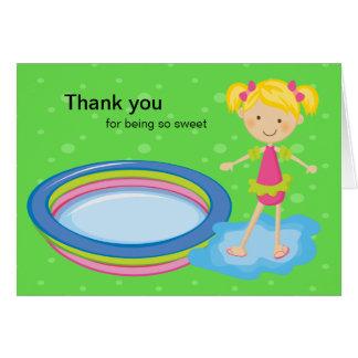 La fiesta en la piscina de Girlss le agradece card Tarjeton