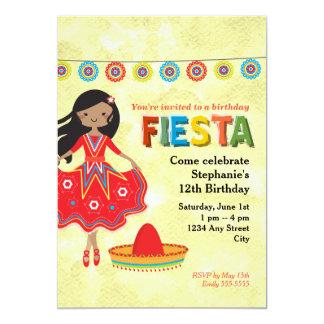 """La fiesta mexicana colorida embroma a la fiesta de invitación 5"""" x 7"""""""