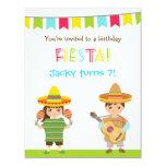 """La fiesta mexicana colorida embroma invitaciones invitación 4.25"""" x 5.5"""""""