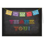 La fiesta mexicana de la pizarra le agradece las tarjeta pequeña