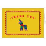 La fiesta mexicana le agradece cardar tarjeta pequeña