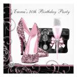 La fiesta rosada y negra de la mujer de cumpleaños