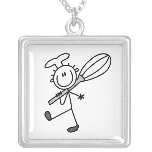 La figura cocinero del palillo con bate grimpola personalizada