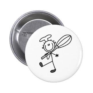 La figura cocinero del palillo con bate pins