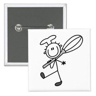 La figura cocinero del palillo con bate pin cuadrado