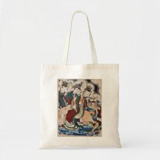 La figura del buey de la pintura de pared china de bolsa tela barata