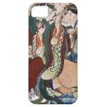 La figura del buey de la pintura de pared china de iPhone 5 Case-Mate carcasa