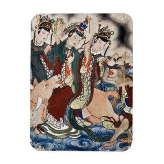 La figura del buey de la pintura de pared china de imanes de vinilo