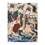 La figura del buey de la pintura de pared china de impresión en lona