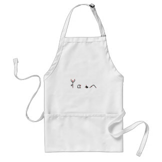La figura del palillo de la yoga plantea YOGA del Delantal