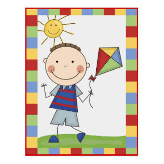 La figura del palillo embroma tarjetas y los regal postales