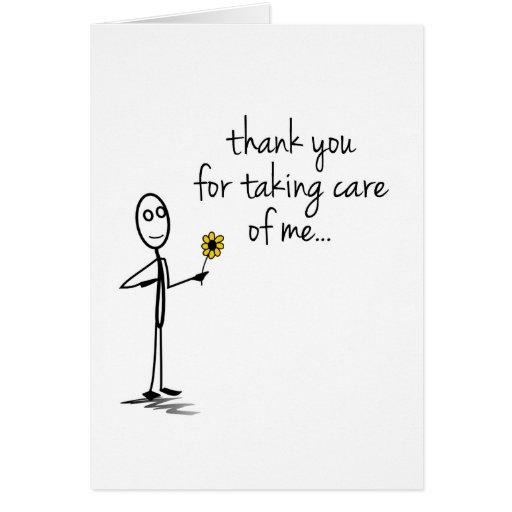 La figura del palillo le agradece cuidar Notecard
