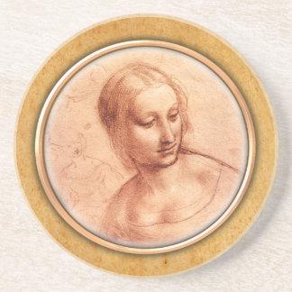 La figura femenina de Leonardo da Vinci que dibuja Posavaso Para Bebida