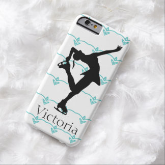 La figura patinador personalizó la caja del iphone funda de iPhone 6 barely there