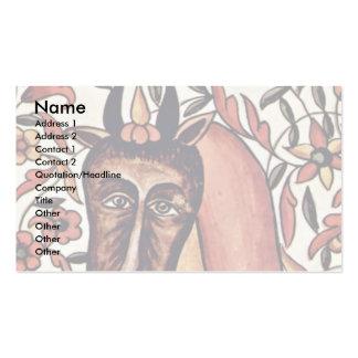 La figura tauro del zodiaco tarjetas de negocios