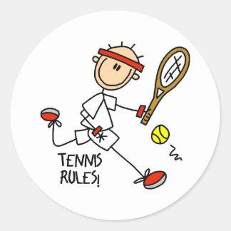 La figura tenis del palillo gobierna a los pegatin