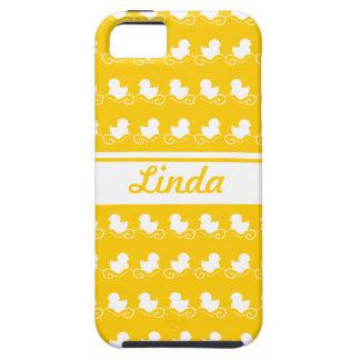 la fila del blanco ducks la casamata amarilla del iPhone 5 carcasas