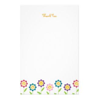 La fila enrrollada de la flor le agradece los efec papelería personalizada
