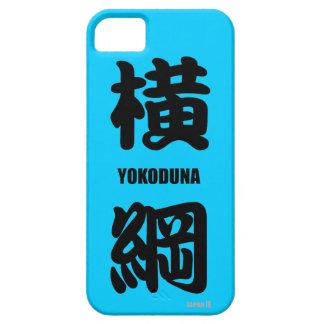 """La fila más alta de """"YOKODUNA"""" en negro del sumo iPhone 5 Carcasa"""