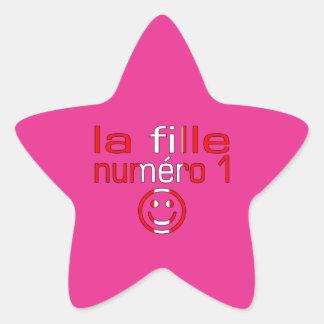 La Fille Numéro 1 - hija del número 1 en Pegatina En Forma De Estrella