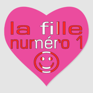 La Fille Numéro 1 - Number 1 Daughter in Canadian Heart Sticker