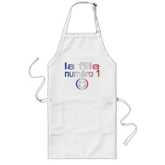 La Fille Numéro 1 - Number 1 Daughter in French Long Apron
