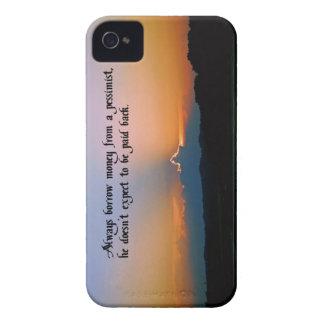 La filosofía de un pesimista iPhone 4 Case-Mate cobertura
