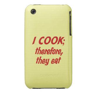 La filosofía del cocinero - rojo y amarillo iPhone 3 carcasas