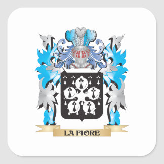 La-Fiore Coat of Arms - Family Crest Square Sticker